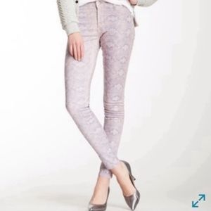 James Jeans Twiggy Orchid Alligator Print Pant